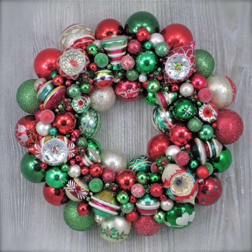 Shiny Brite Wreath Vintage