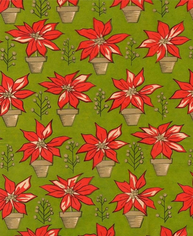 xmas flower wrap