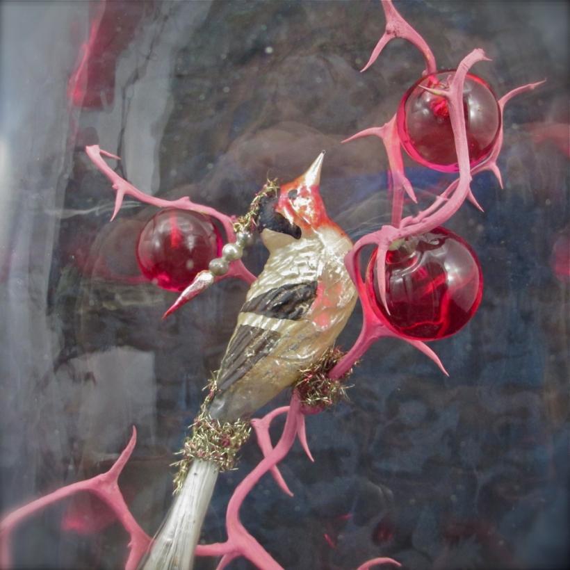 vintage glass bird
