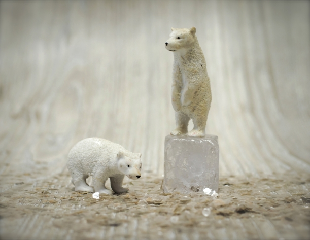 Antique Bisque Polar Bears