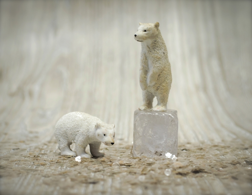 Antique Bisque Polar Bears
