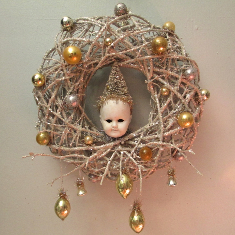 Elf Head Wreath
