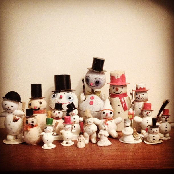 The snowman family had several new additions and a few moved on to new caretakers.
