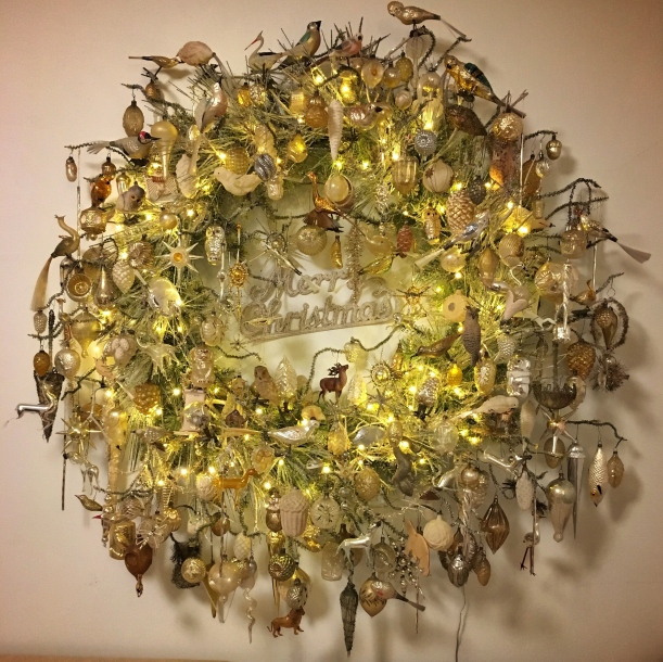 Antique Ornament Wreath