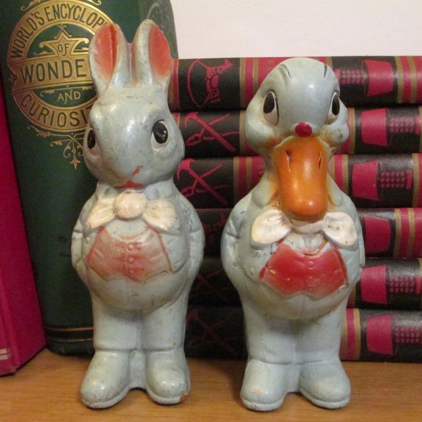 chalkware rabbit duck