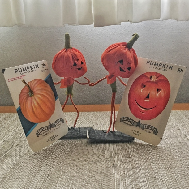 pumpkin men crepe paper