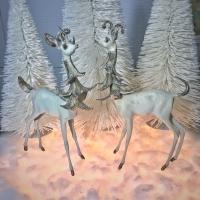 white deer vintage retro